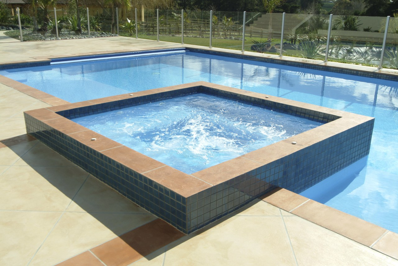 A view of a pool built by Mayfair composite material, daylighting, leisure, property, swimming pool, water, teal