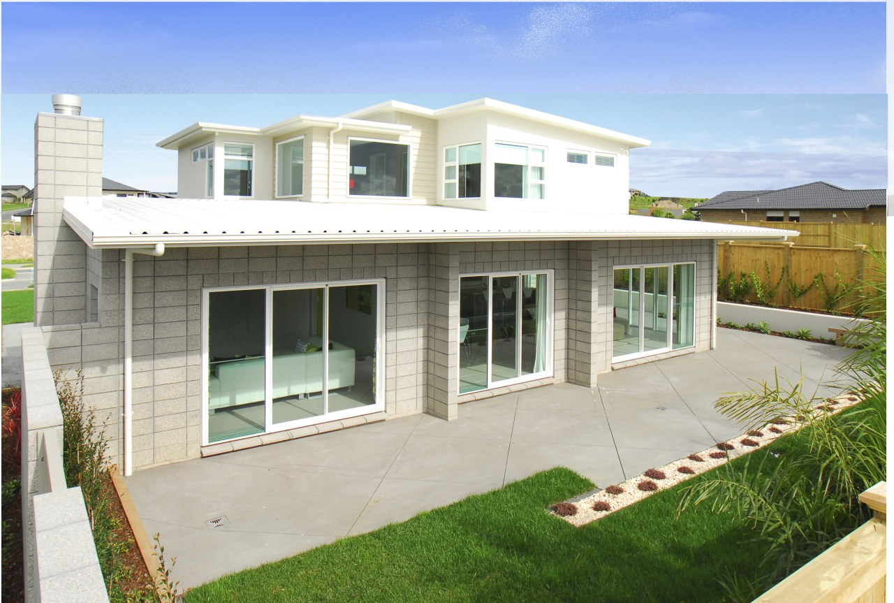 The side of the house opens up to cottage, elevation, estate, facade, home, house, property, real estate, residential area, siding, window, white