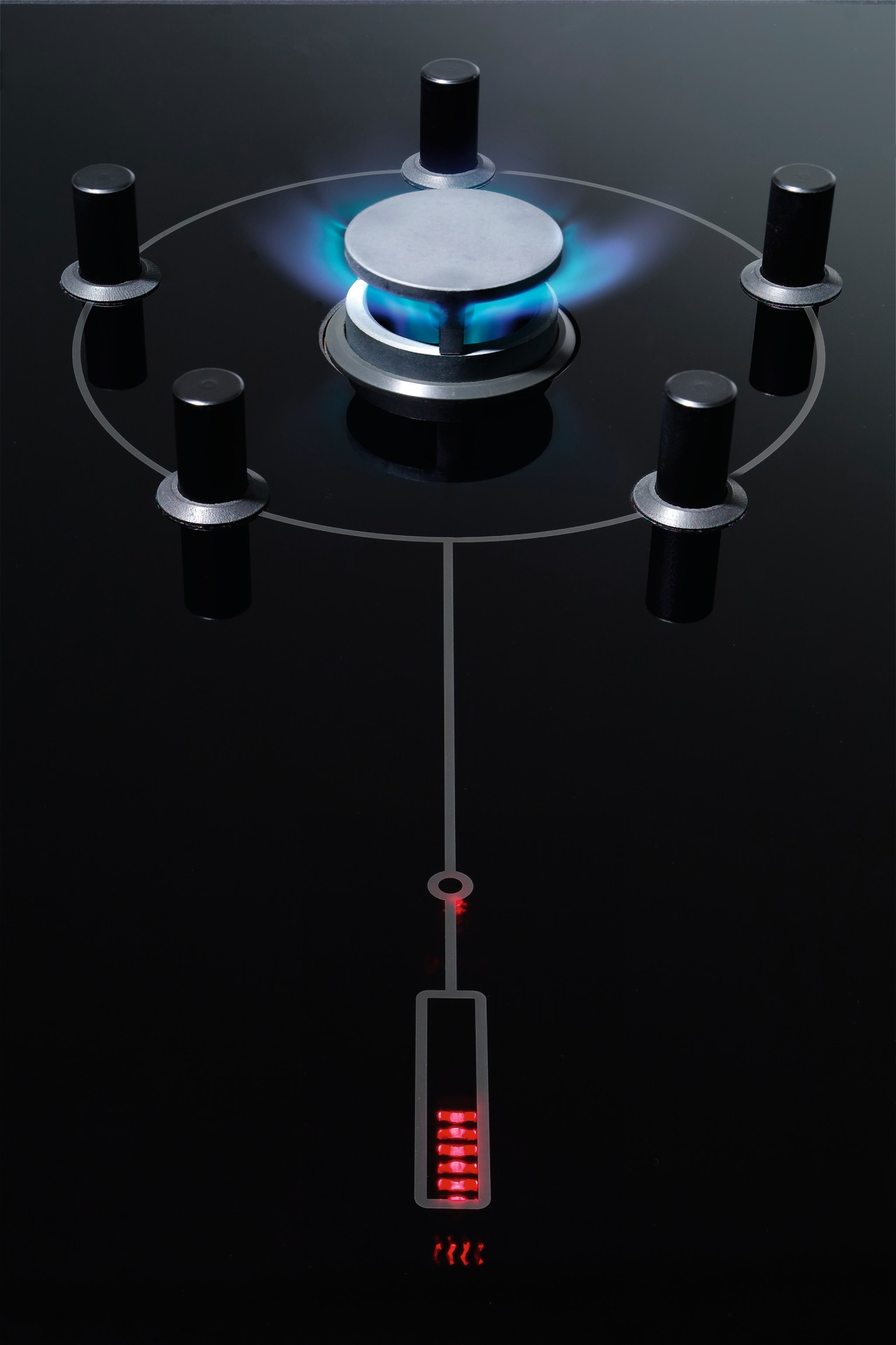 The glow iginition technology provides instantaneous gas ignition product, product design, technology, black