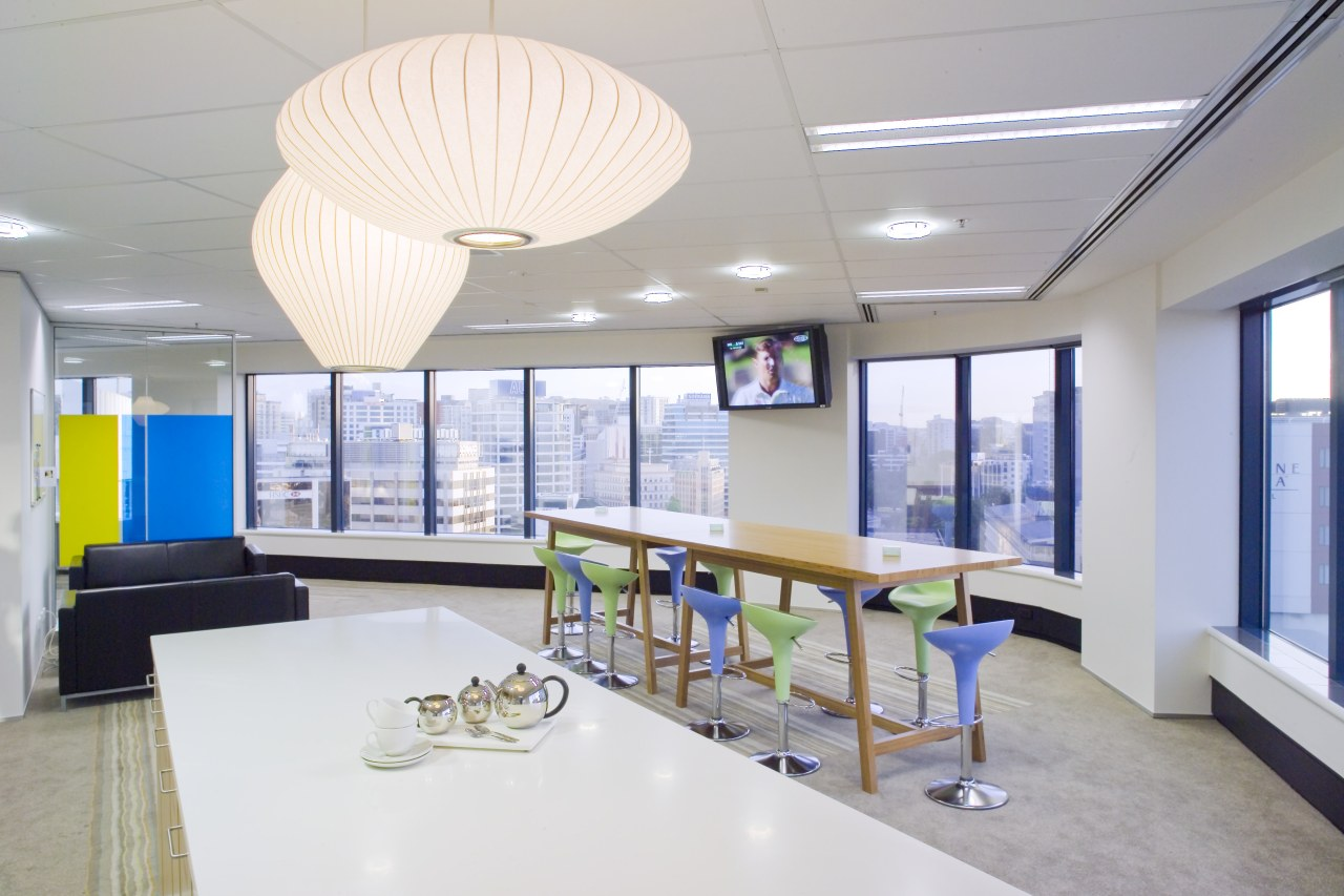 View of the Kiwi Income Property Managment offices ceiling, daylighting, interior design, office, real estate, gray, white