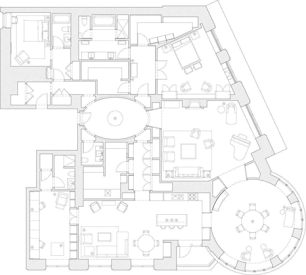 Image of the house plan. area, black and white, design, diagram, drawing, floor plan, line, line art, plan, product, product design, structure, technical drawing, white