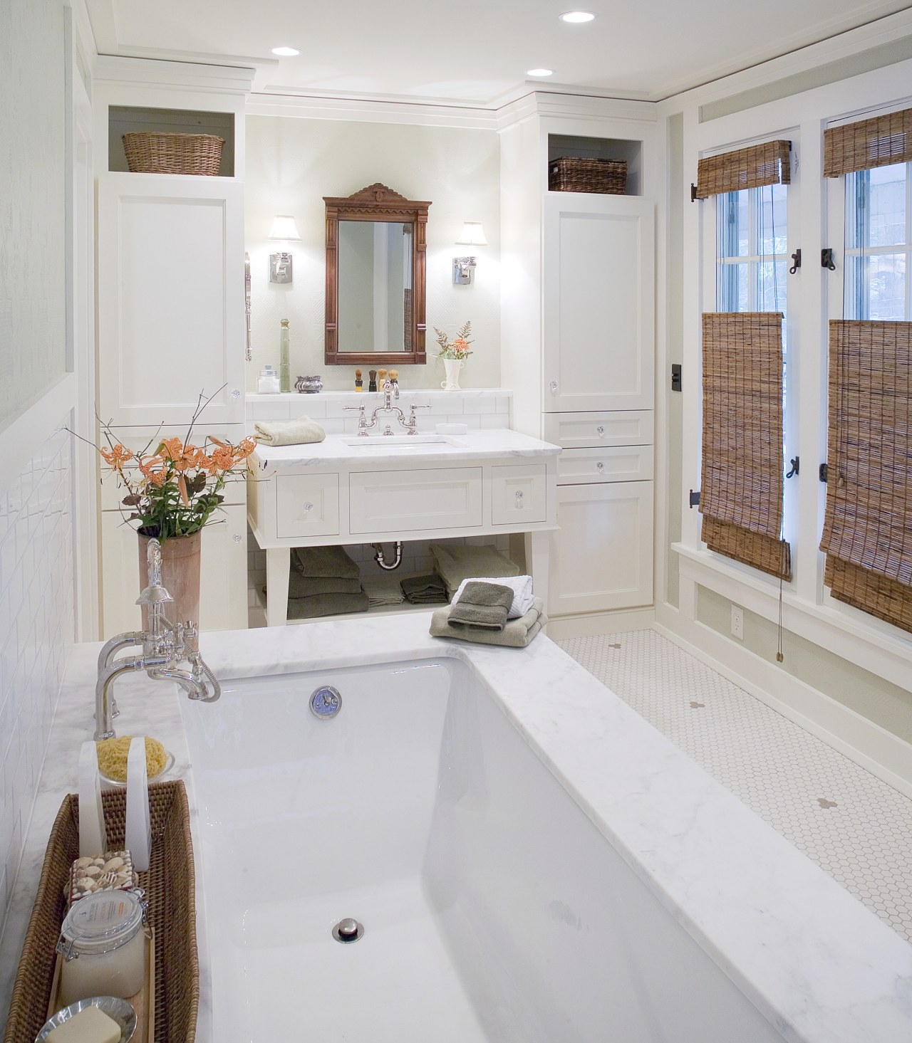 Image of a bathroom designed by an NKBA bathroom, countertop, floor, home, interior design, real estate, room, sink, window, gray