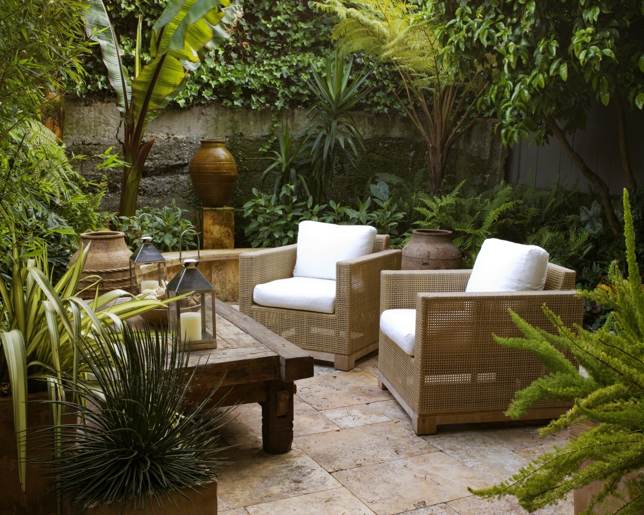 The grass may be damp but all weather backyard, courtyard, furniture, garden, landscaping, outdoor furniture, outdoor structure, patio, real estate, table, yard, brown