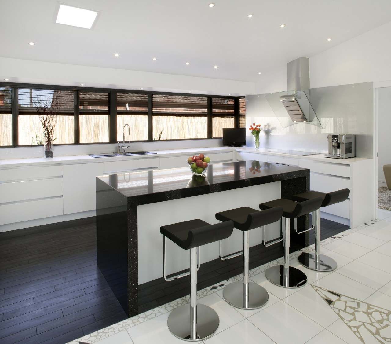 With a fully integrated kitchen design, appliances are countertop, cuisine classique, interior design, kitchen, gray