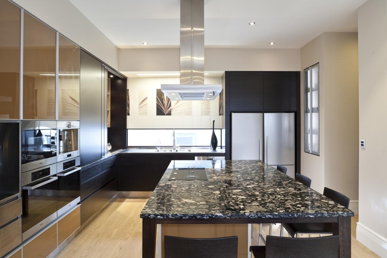 So this area looks good even when the cabinetry, countertop, cuisine classique, interior design, kitchen, real estate, room, gray