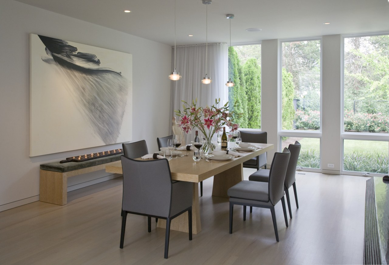 Interior view of the dining area ceiling, dining room, floor, flooring, furniture, interior design, living room, real estate, room, table, window, gray