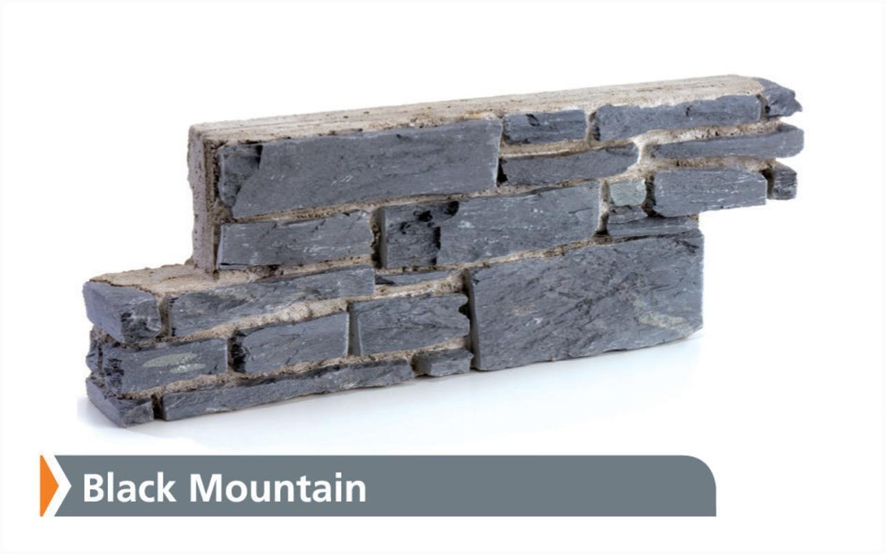 DESINGA SCHIST - Black Mountain - with Name material, wall, white, gray