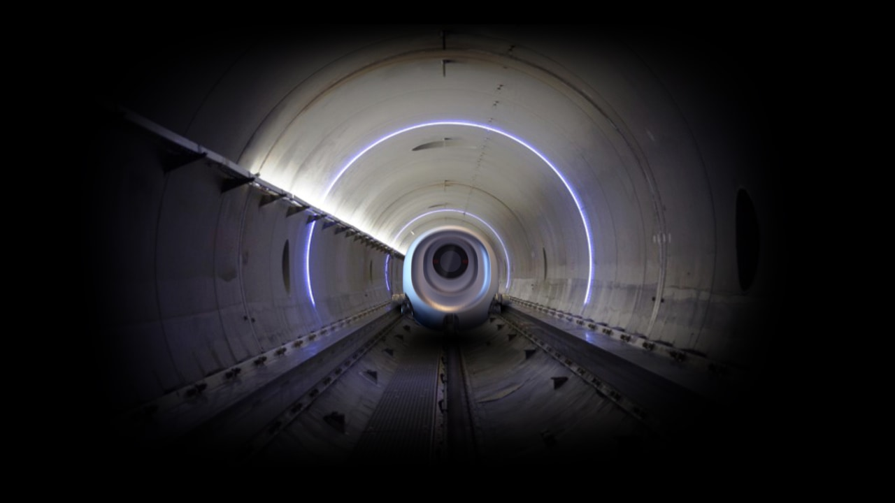 This tunnel must look even more exciting at