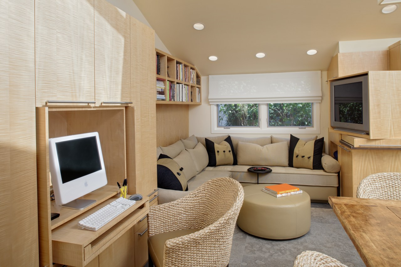 View of living area with corner sofa, and interior design, living room, real estate, room, suite, orange, gray