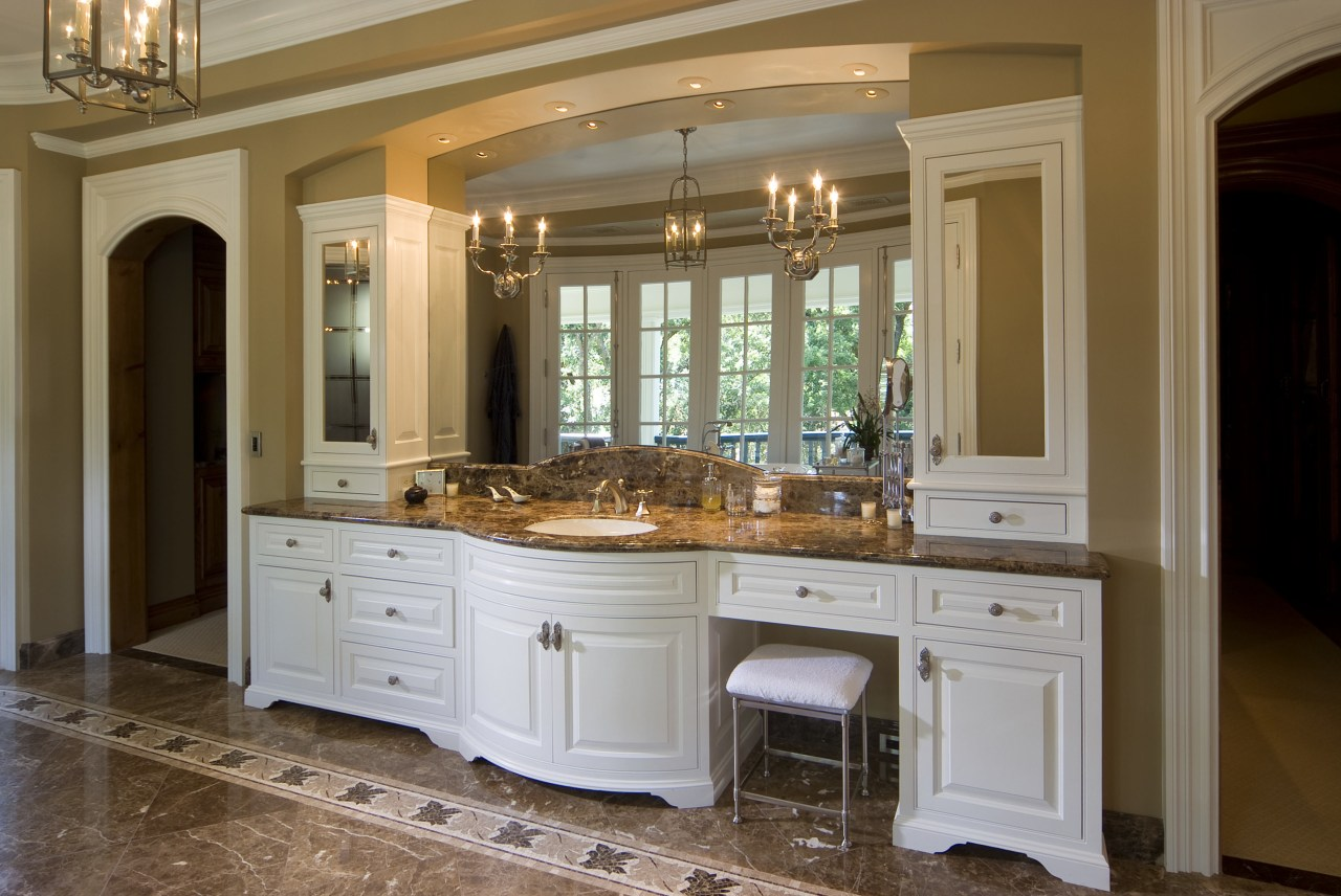 This is a master suite designed by Chuck cabinetry, countertop, cuisine classique, estate, floor, flooring, furniture, home, interior design, kitchen, room, brown, gray