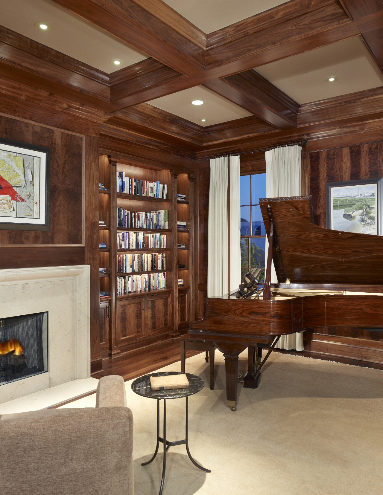 This house was remodeled by architect Ankie Barnes cabinetry, ceiling, flooring, furniture, hardwood, interior design, living room, wood, wood stain, brown