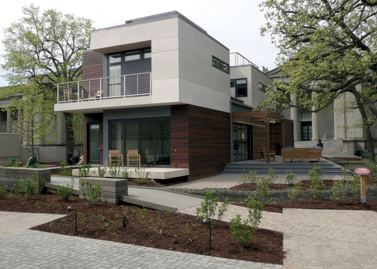 Warmboard provides and eco friendly, quiet and efficient architecture, building, courtyard, elevation, estate, facade, home, house, mixed use, neighbourhood, property, real estate, residential area, gray, brown