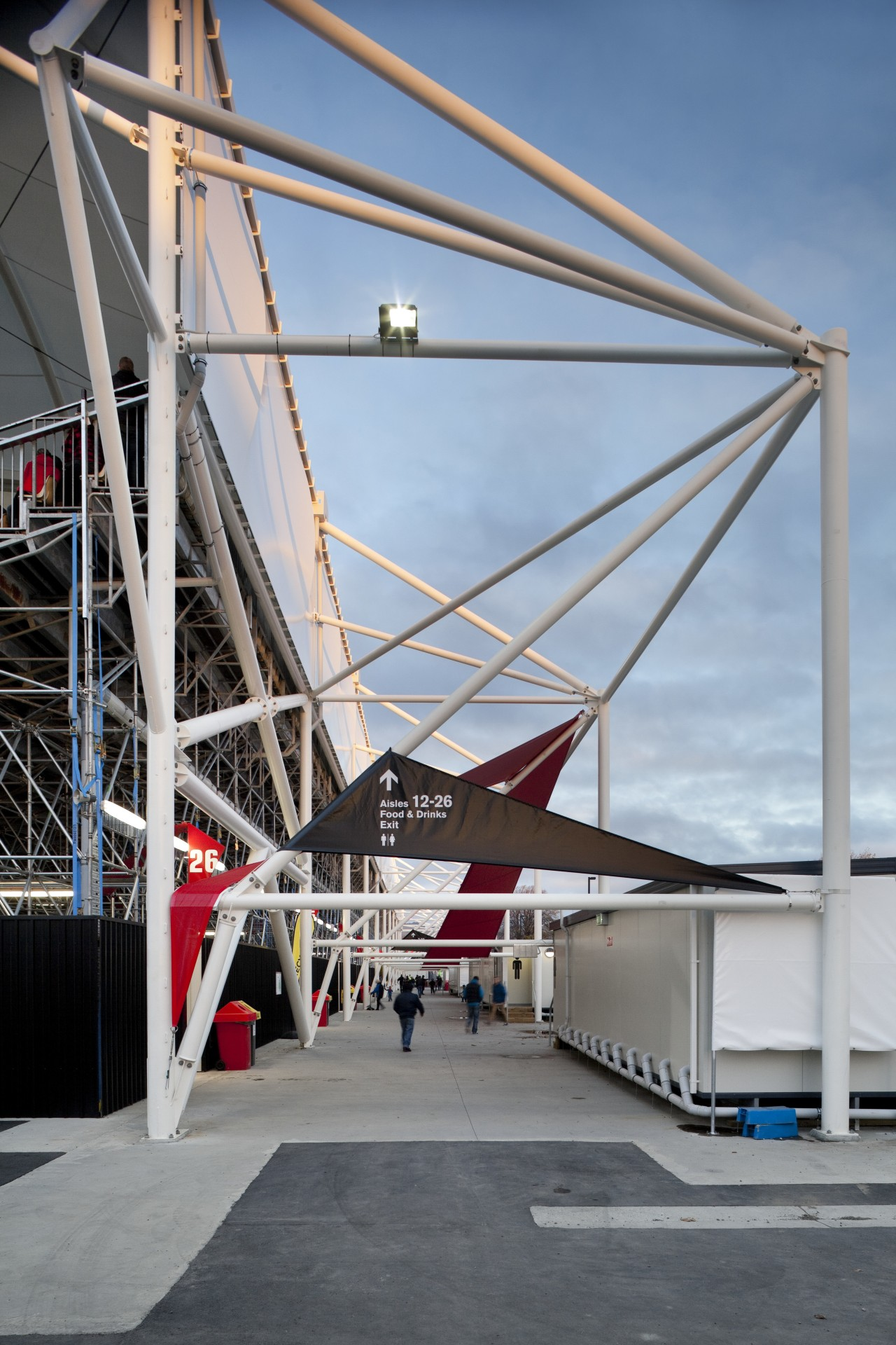Structure of stadium. architecture, building, sky, structure, gray