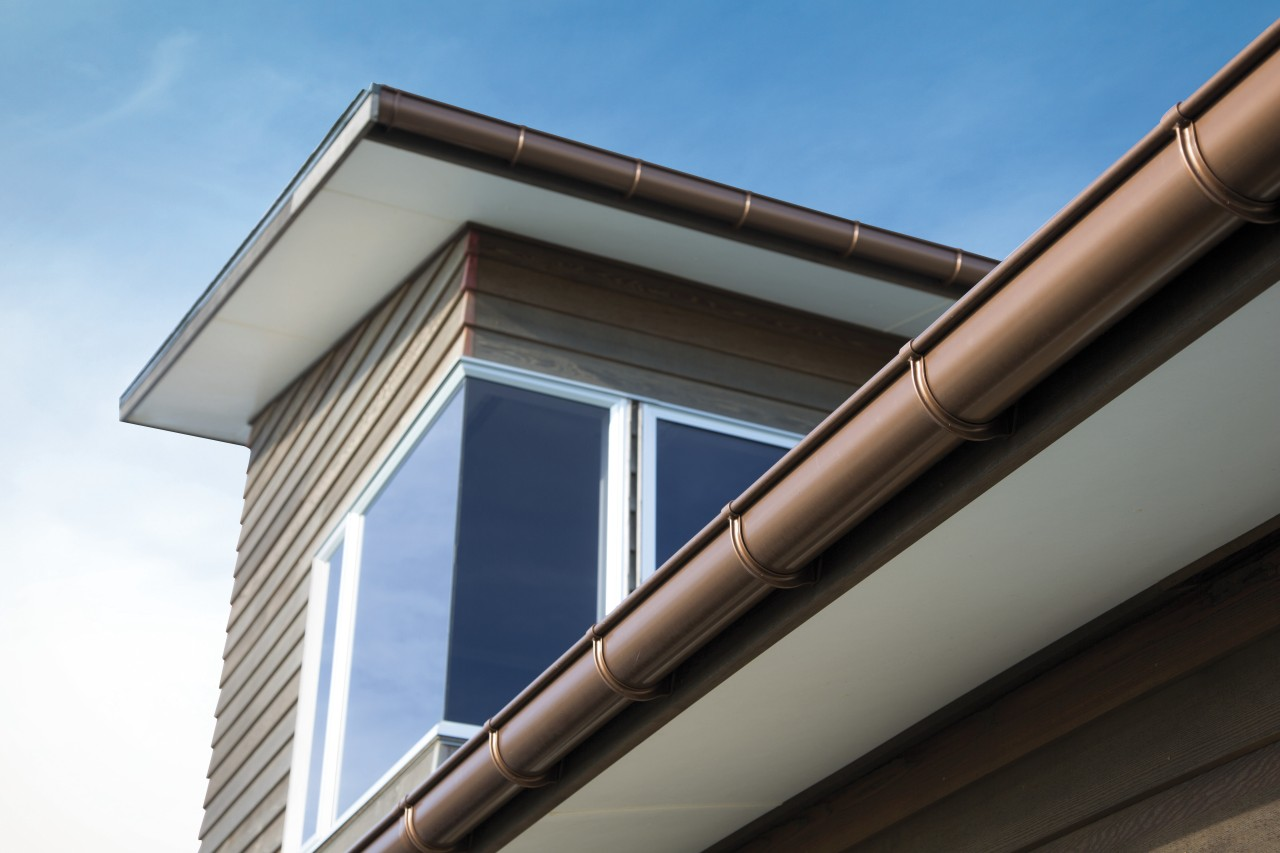 If your gutters get blocked you will know architecture, building, daylighting, facade, house, rain gutter, roof, siding, sky, window