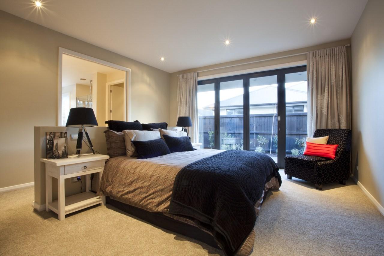 Bedroom view. bedroom, ceiling, estate, home, interior design, property, real estate, room, suite, window, gray