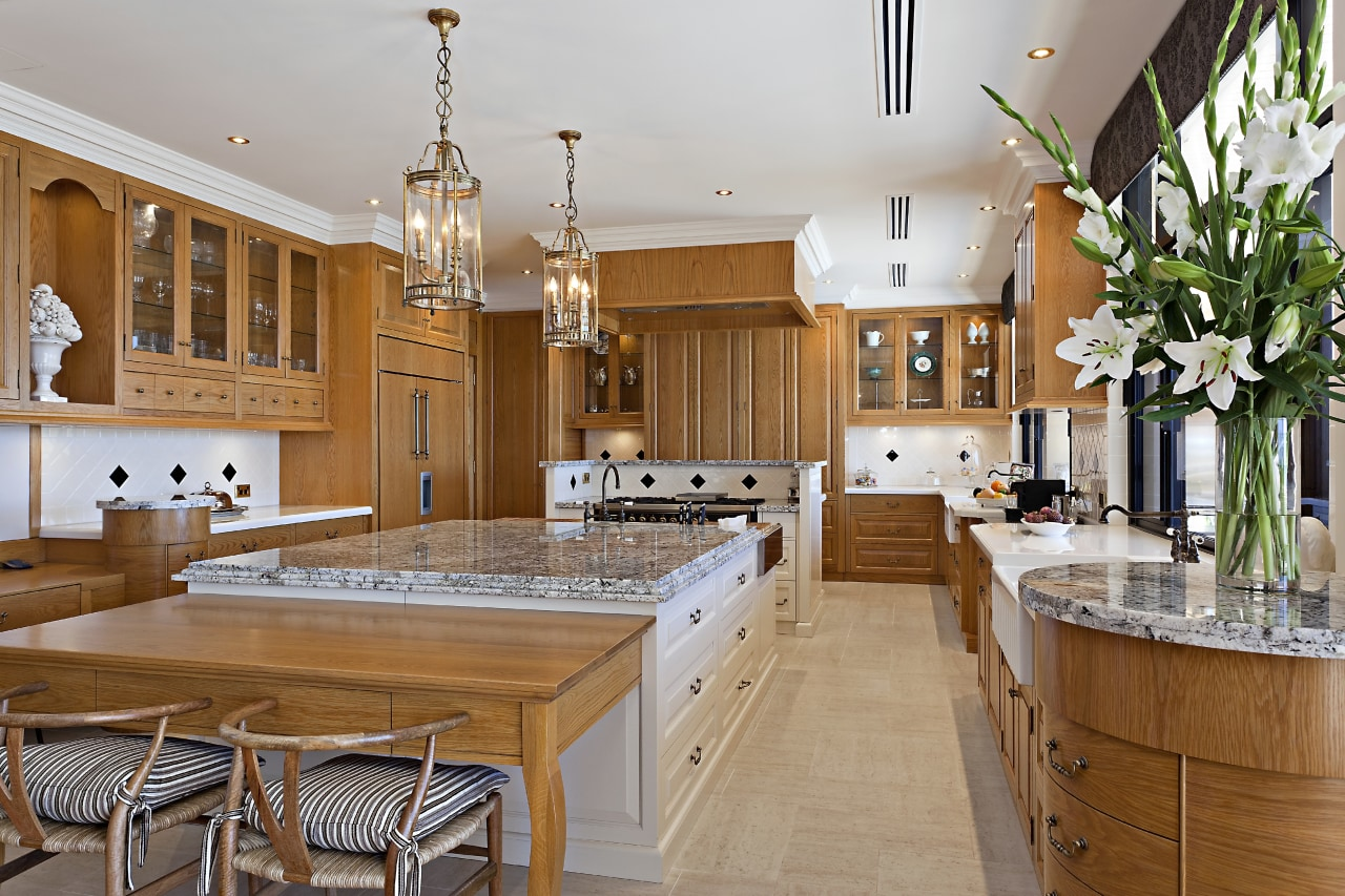 A view of the entire kitchen. countertop, cuisine classique, estate, interior design, kitchen, real estate, room, brown, gray