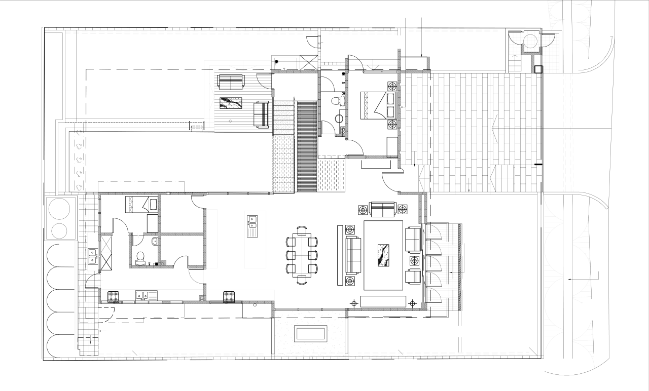 View of the plans for the kitchen. angle, architecture, area, black and white, design, diagram, drawing, elevation, floor plan, home, house, line, plan, product, product design, schematic, structure, technical drawing, white
