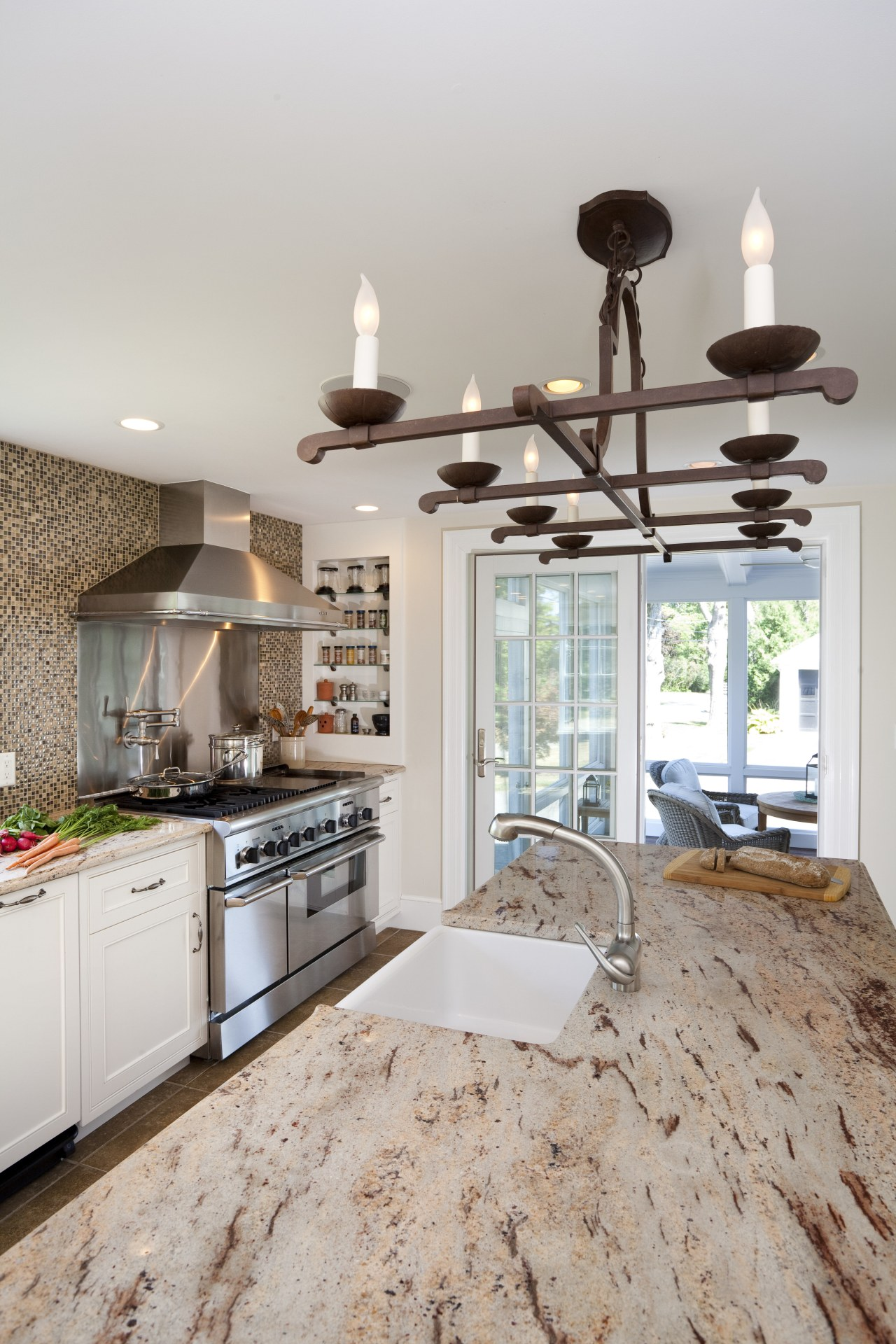 Country style family kitchen countertop, floor, home, interior design, kitchen, room, gray