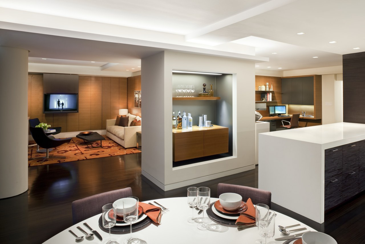 Contemporary apartment interiors dont have to be crisp, interior design, living room, real estate, room, suite, white