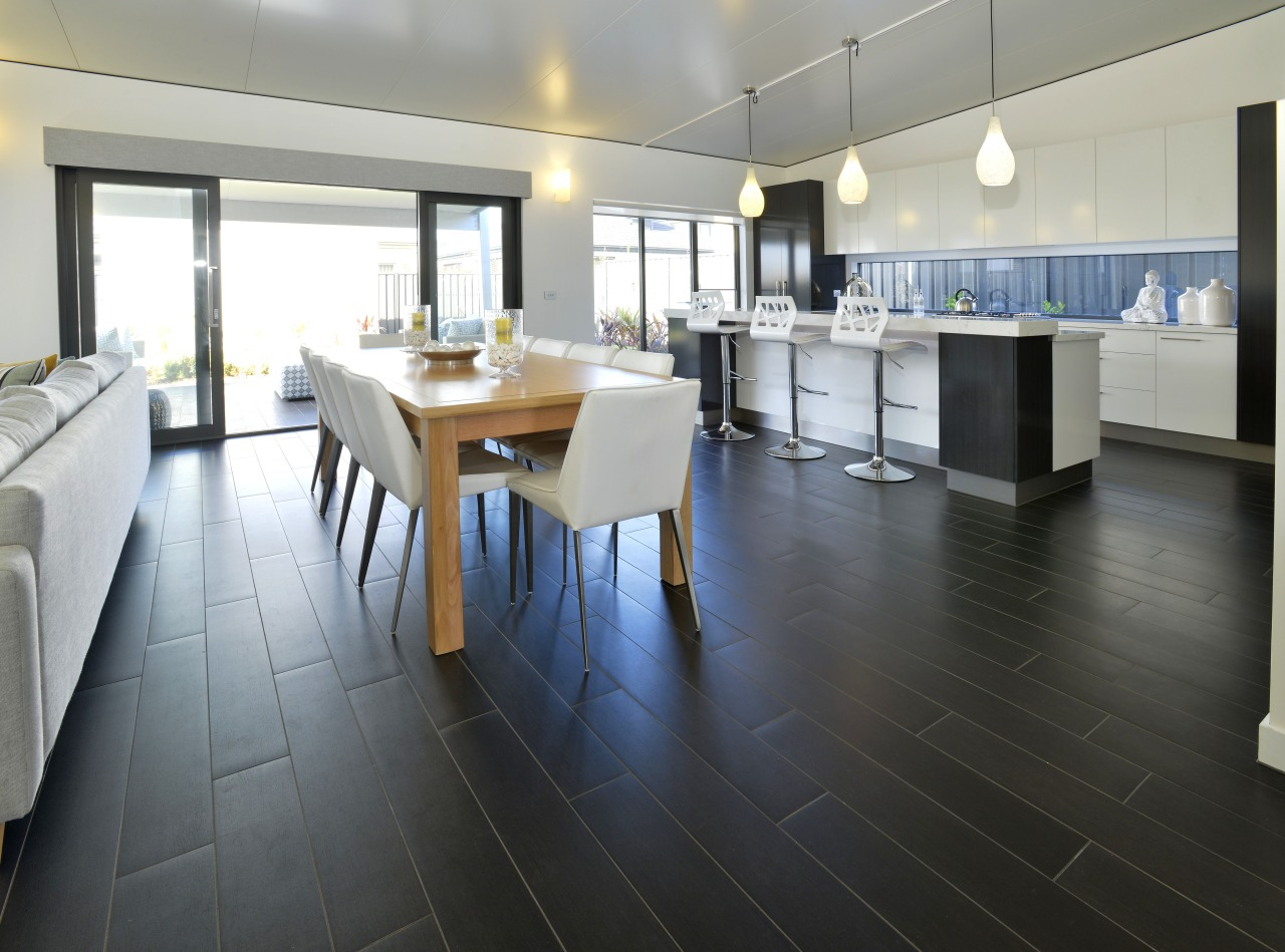 Advantages of the new porcelain tile flooring include floor, flooring, hardwood, interior design, laminate flooring, property, real estate, tile, wood, wood flooring, gray, black