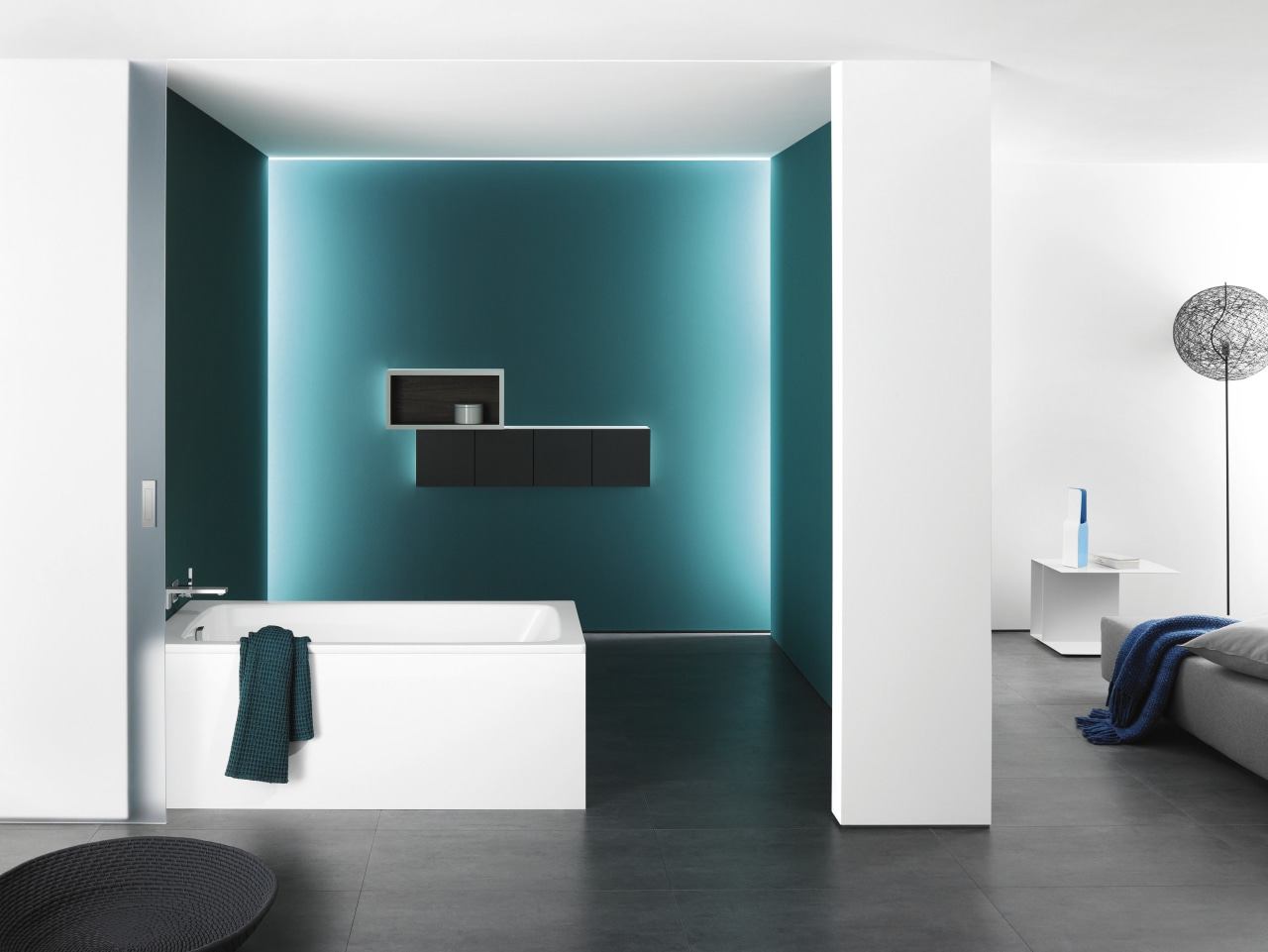 Other new products to Australian market include the bathroom, blue, floor, interior design, plumbing fixture, product design, room, tap, wall, white