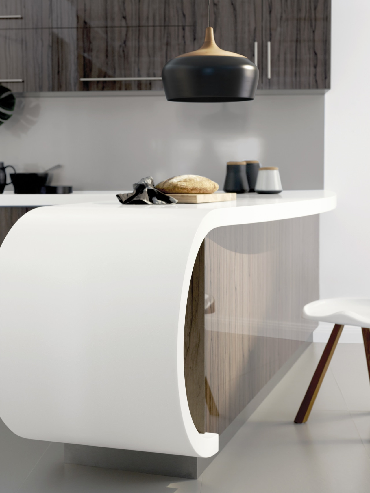 Laminex Solid Surfaces are a cost-effective option for chest of drawers, furniture, interior design, product design, sideboard, table, tap, gray