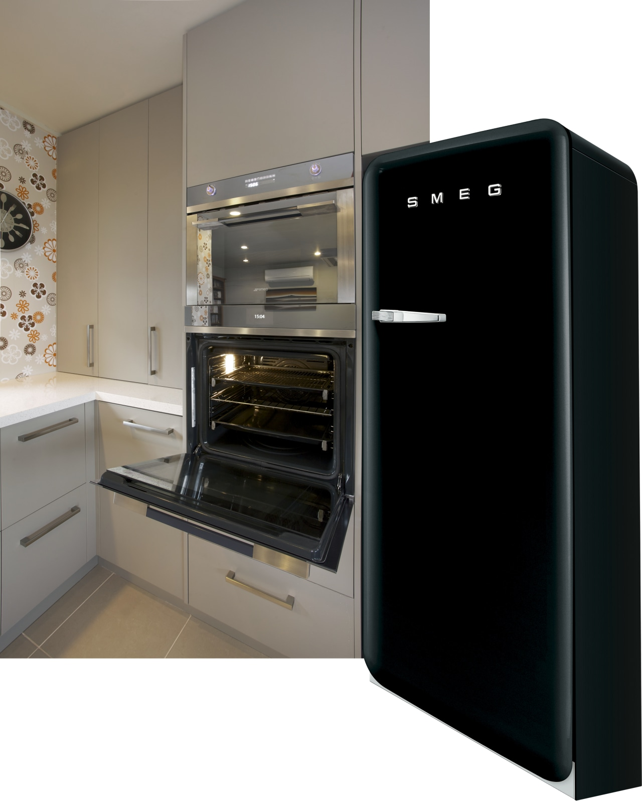 The owners chose the multifunctional prolytic Smeg Linea home appliance, kitchen, kitchen appliance, kitchen stove, major appliance, oven, product, small appliance, black