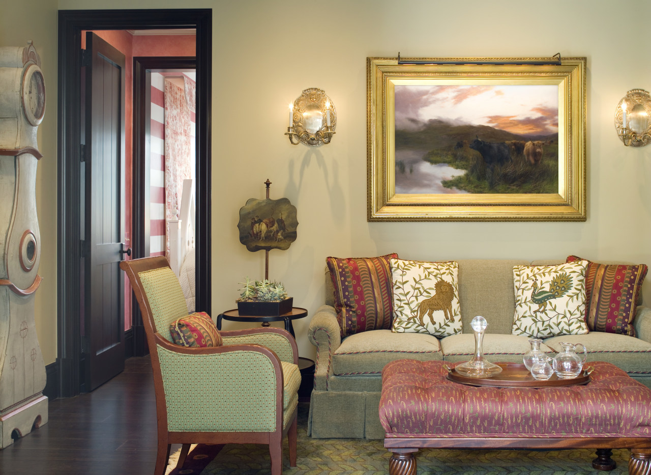Spanish style interior couch, furniture, home, interior design, living room, real estate, room, suite, table, wall, window, orange