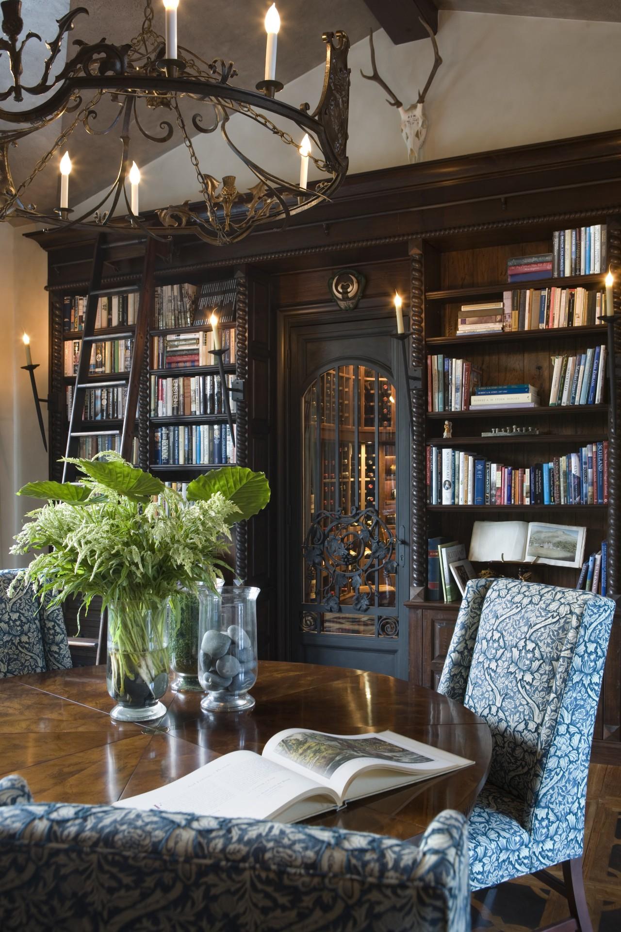 Spanish style interior dining room, furniture, home, interior design, living room, window, black