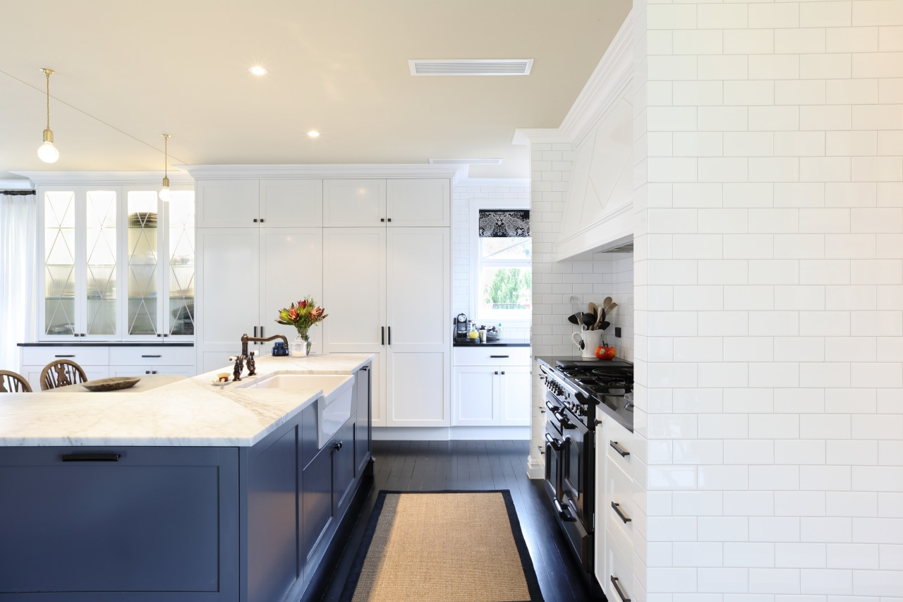 This mainly grey and white kitchen by Lee countertop, home, interior design, kitchen, real estate, room, white