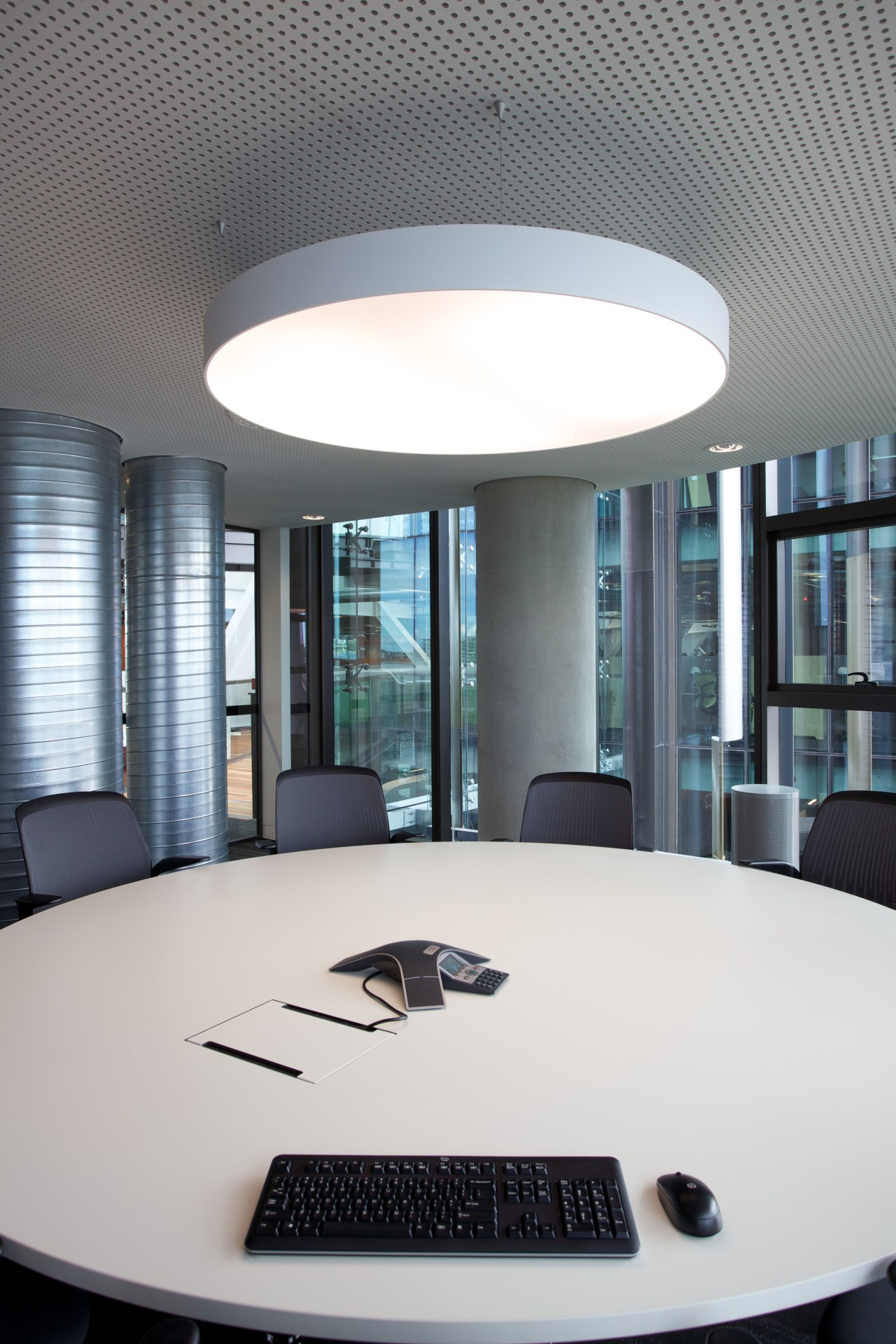 lighting by Aesthetics LIghting was custom designed for architecture, ceiling, daylighting, furniture, interior design, office, product design, table, white, gray