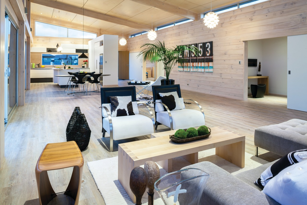 Lockwood show home Tauranga - Has a spacious interior design, living room, lobby, real estate, gray