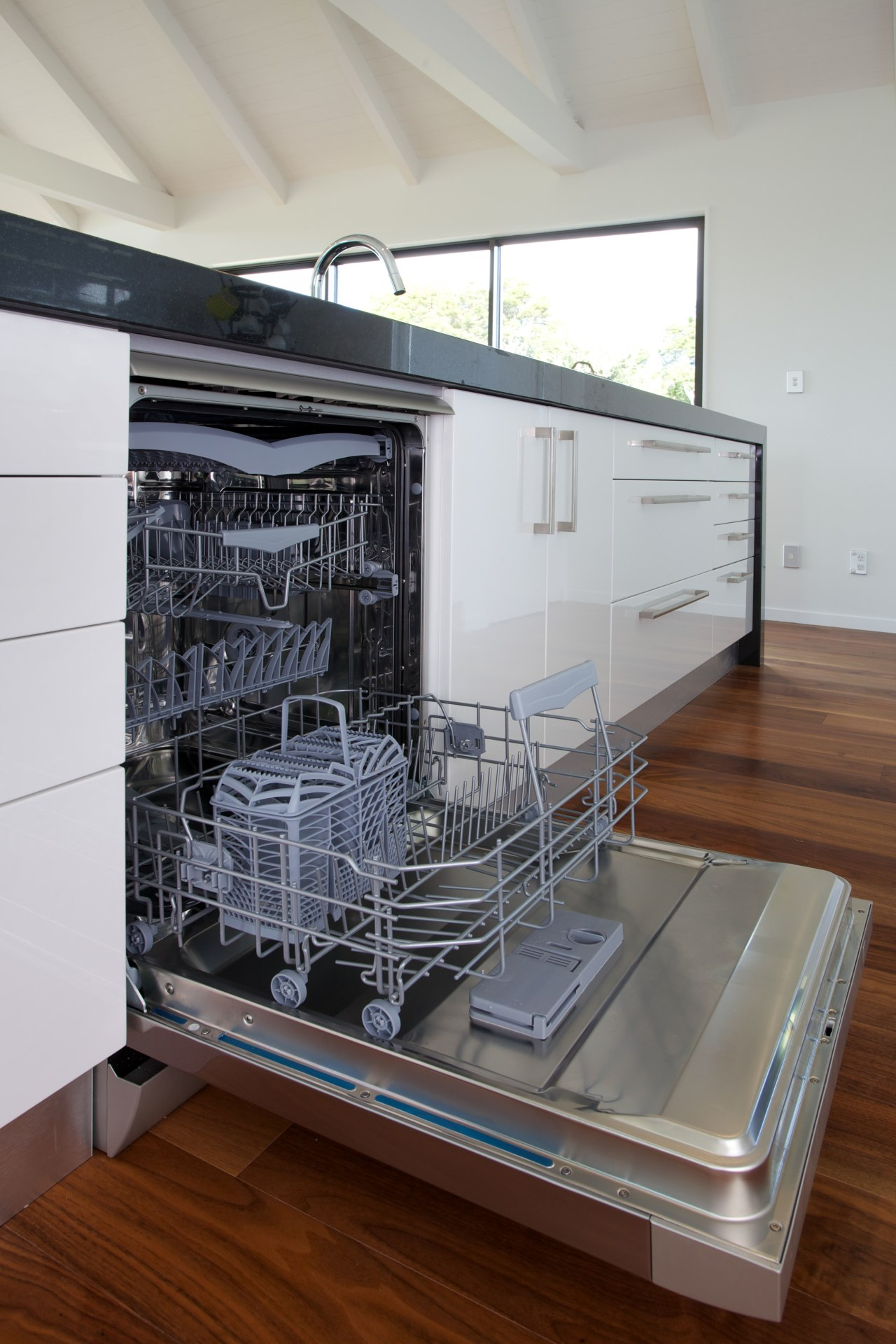 The Te Arai Estate show home is equipped dishwasher, home appliance, kitchen appliance, major appliance, gray