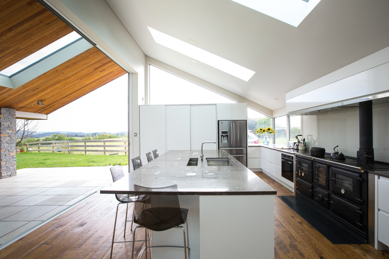 Contemporary new kitchen by Kitchen Link architecture, ceiling, countertop, daylighting, house, interior design, kitchen, real estate, window, white, gray