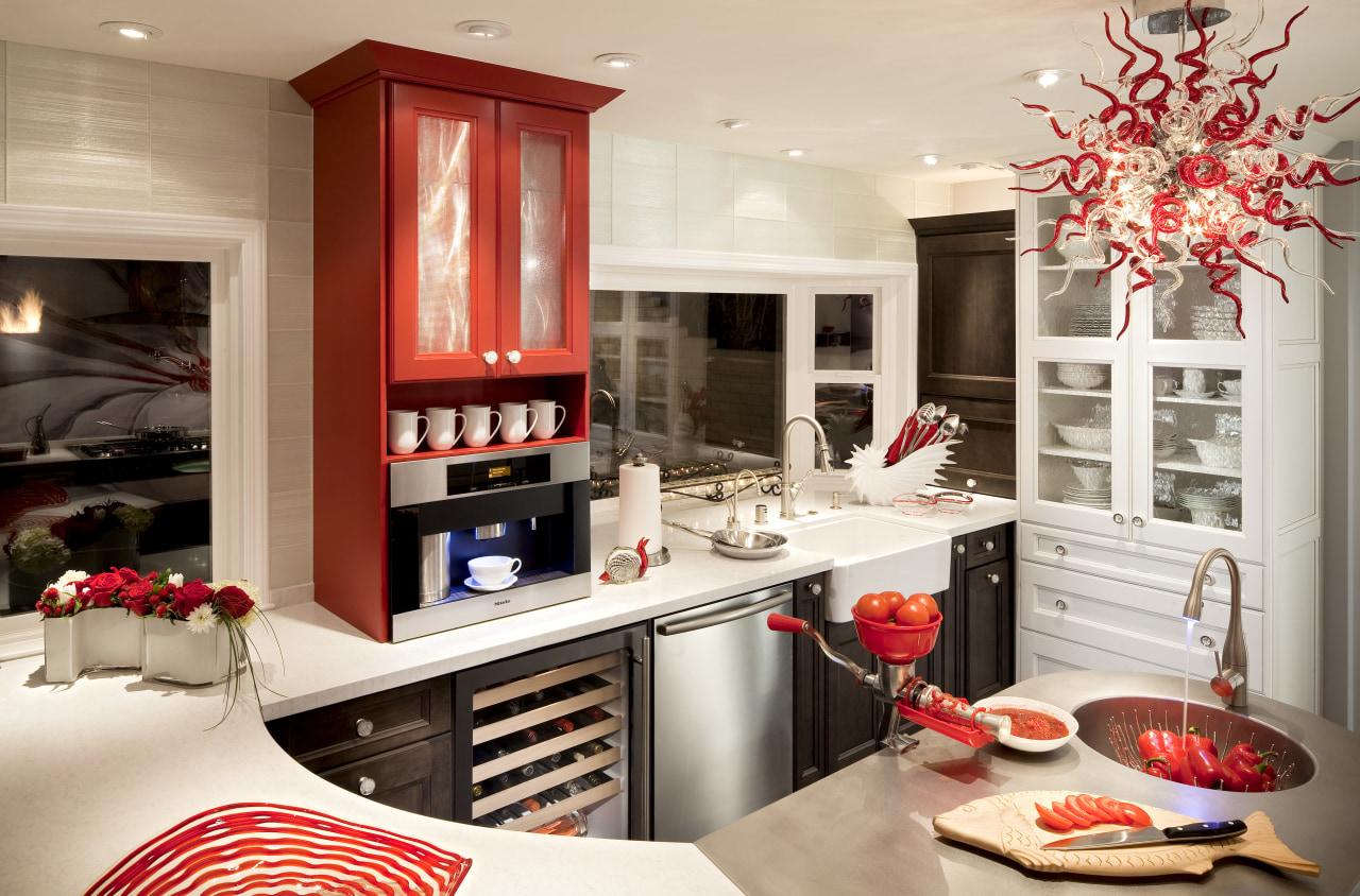 Dramatic kitchen by DeWitt Designer Kitchens countertop, interior design, kitchen, room, white
