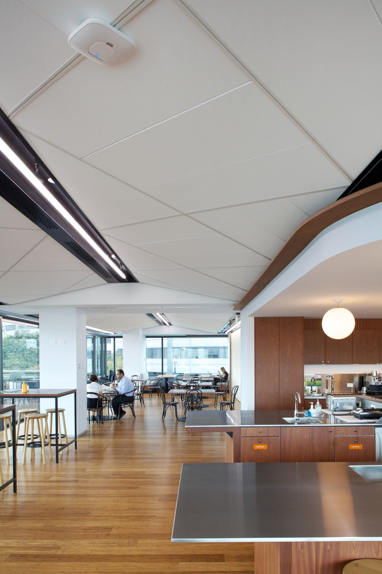 A dramatic ceiling system for the new genesis architecture, ceiling, daylighting, interior design, gray