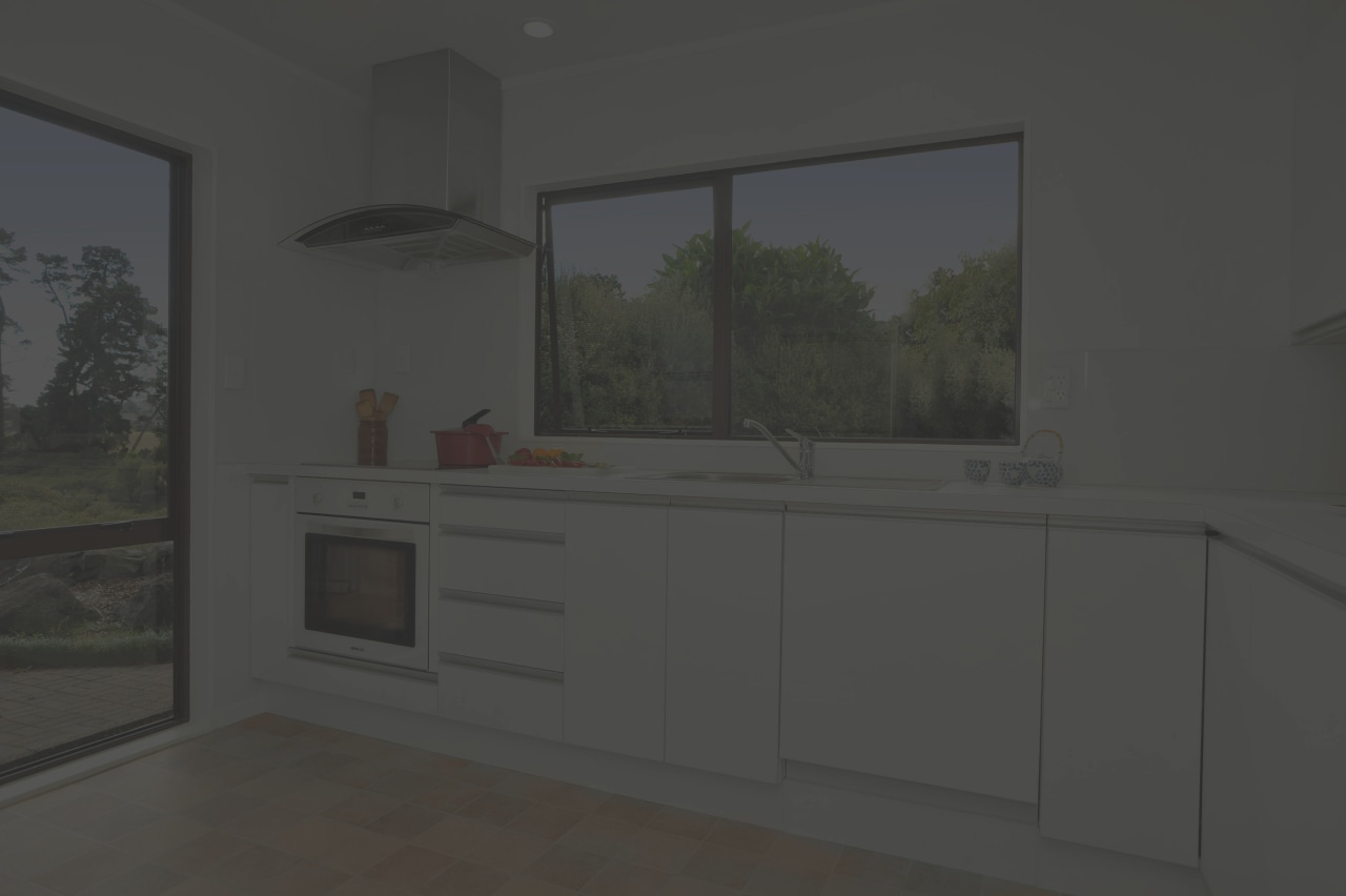 The renovated kitchen features an Eisno multifunction wall home, interior design, kitchen, property, real estate, room, window, black