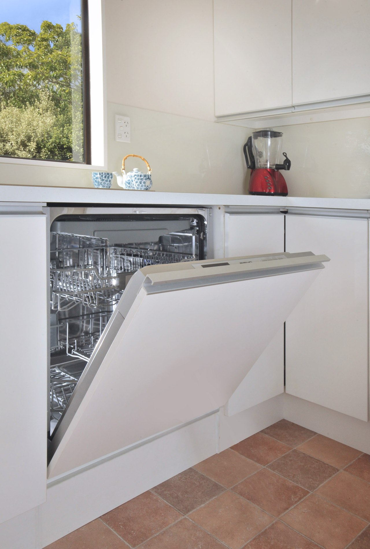 Clean-up in the reinvented kitchen is easy with countertop, home appliance, kitchen, kitchen appliance, major appliance, gray