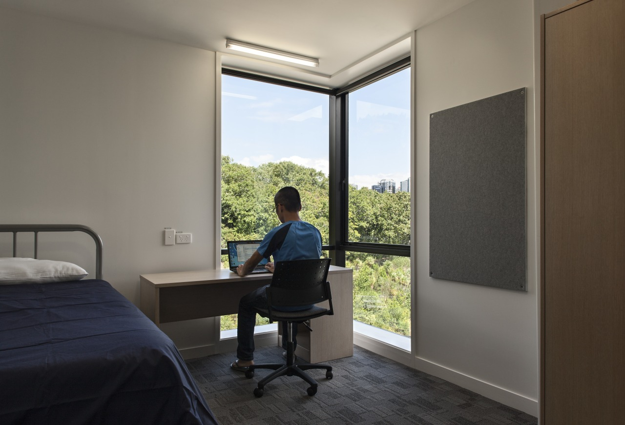 Carlaw Park Student Village in Auckland accommodates students architecture, house, interior design, real estate, room, window, gray, black