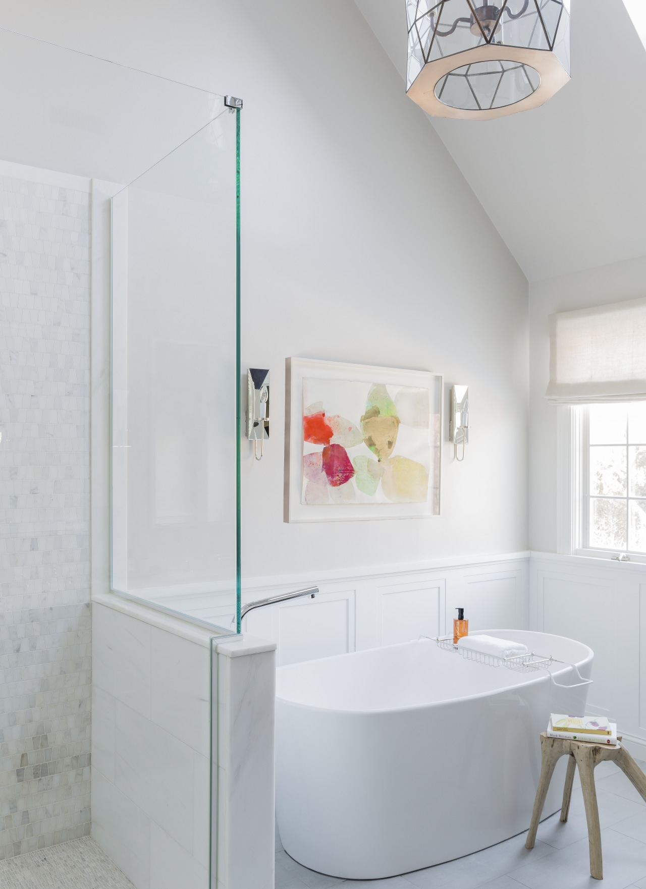 Many homeowners today are opting for a fresh, bathroom, floor, interior design, plumbing fixture, product design, room, tap, white, gray
