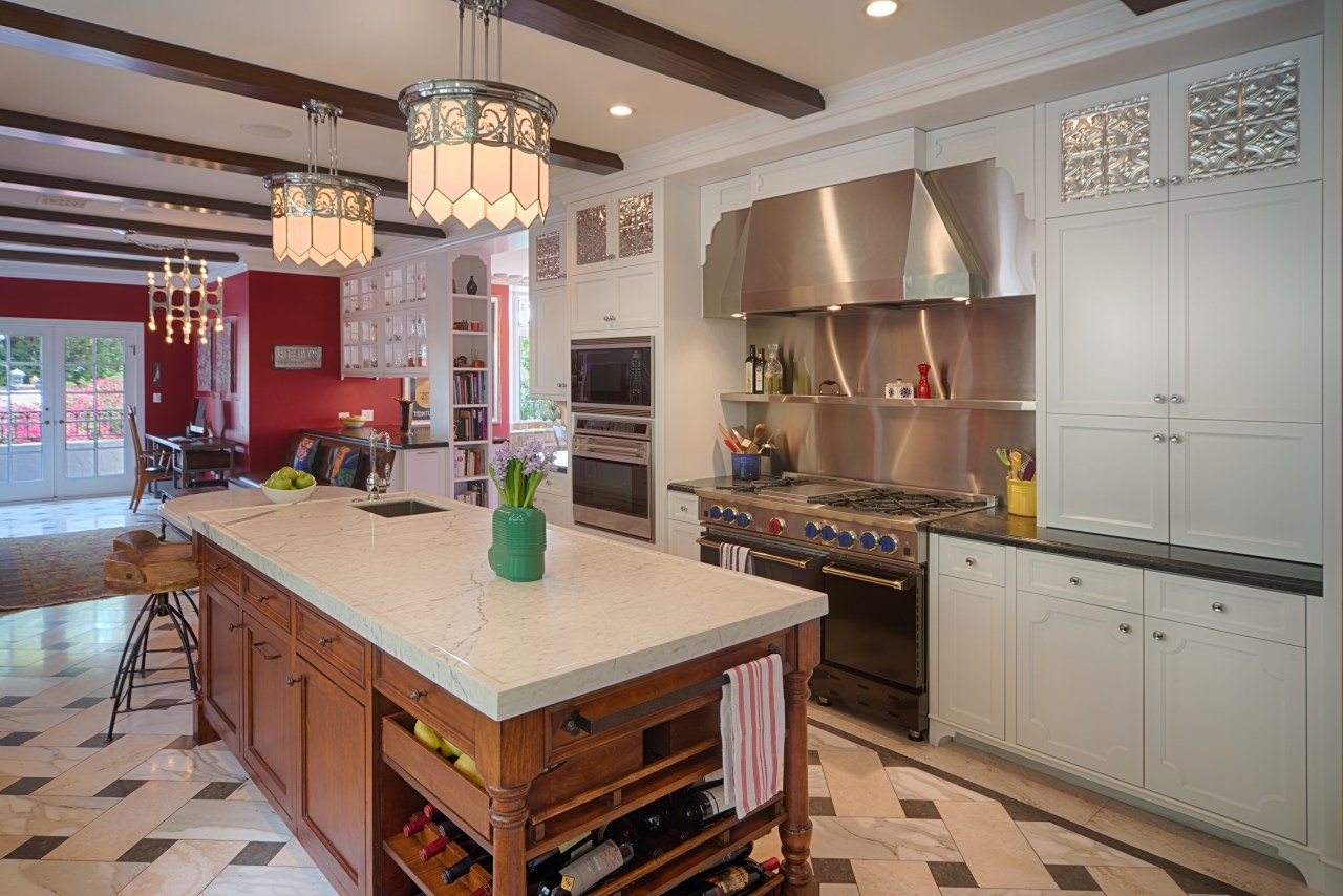 Vintage light fixtures set the tone for this cabinetry, countertop, cuisine classique, interior design, kitchen, real estate, room, gray