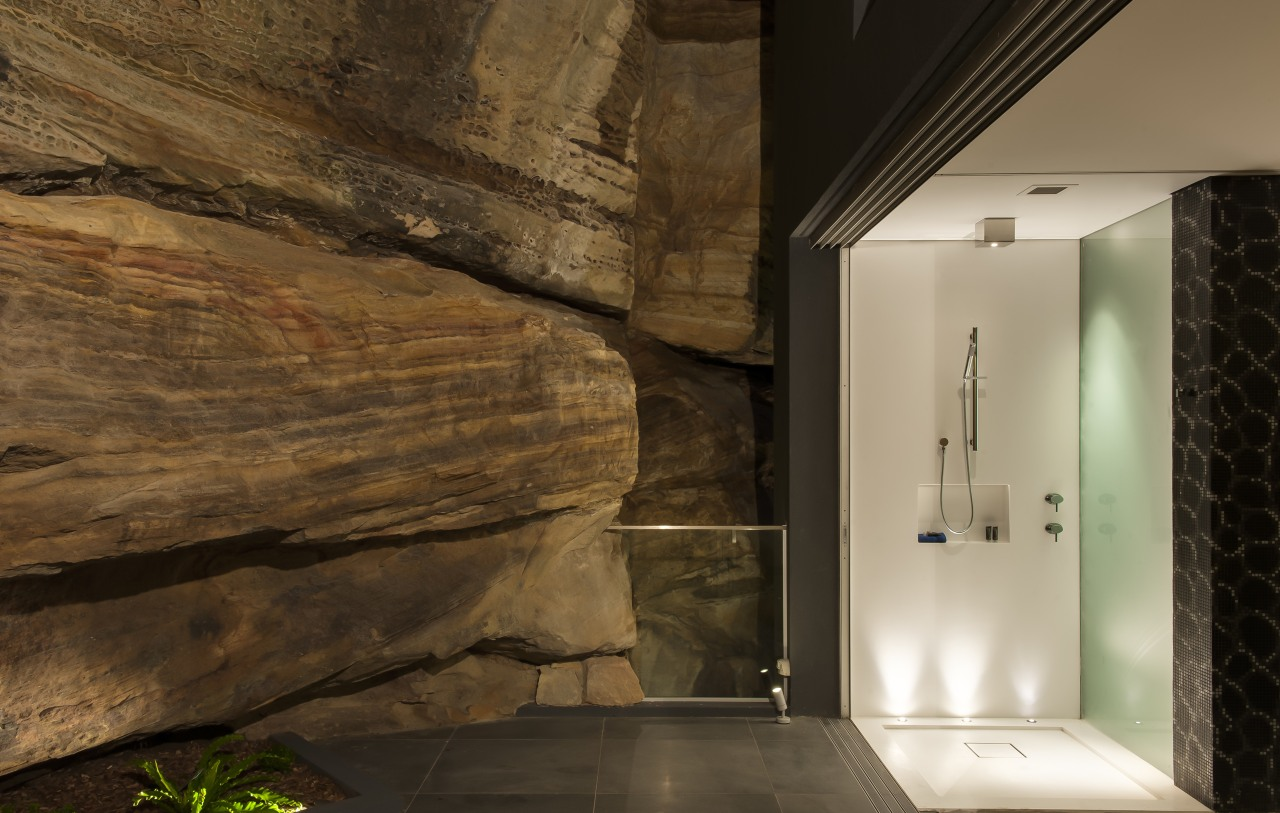 HIA bathroom design of the year architecture, ceiling, home, house, interior design, lighting, wall, wood, brown