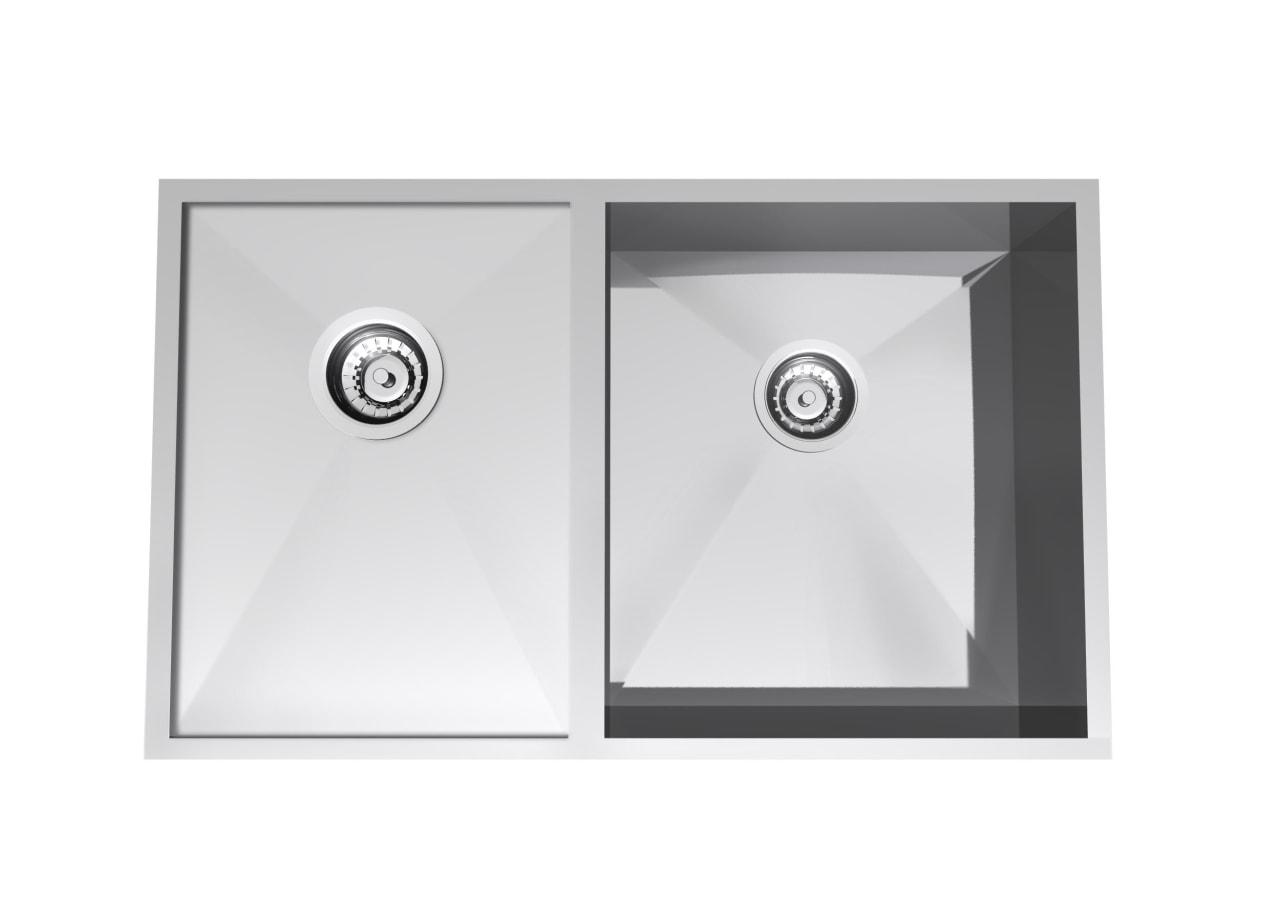 Clark Razor sink eco-friendly kitchen fixture angle, hardware, kitchen sink, plumbing fixture, product, product design, sink, tap, white