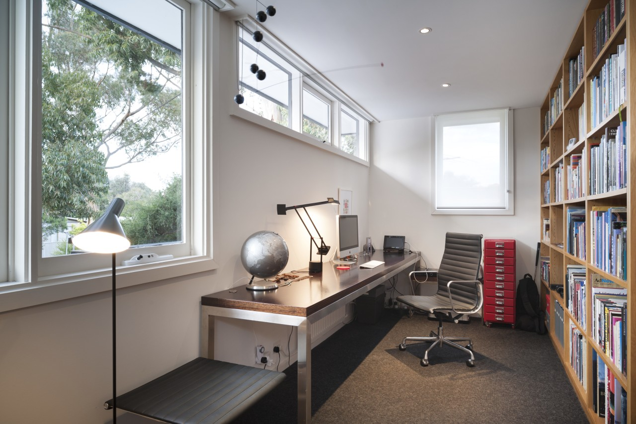 This home office at the top of the furniture, office, real estate, gray