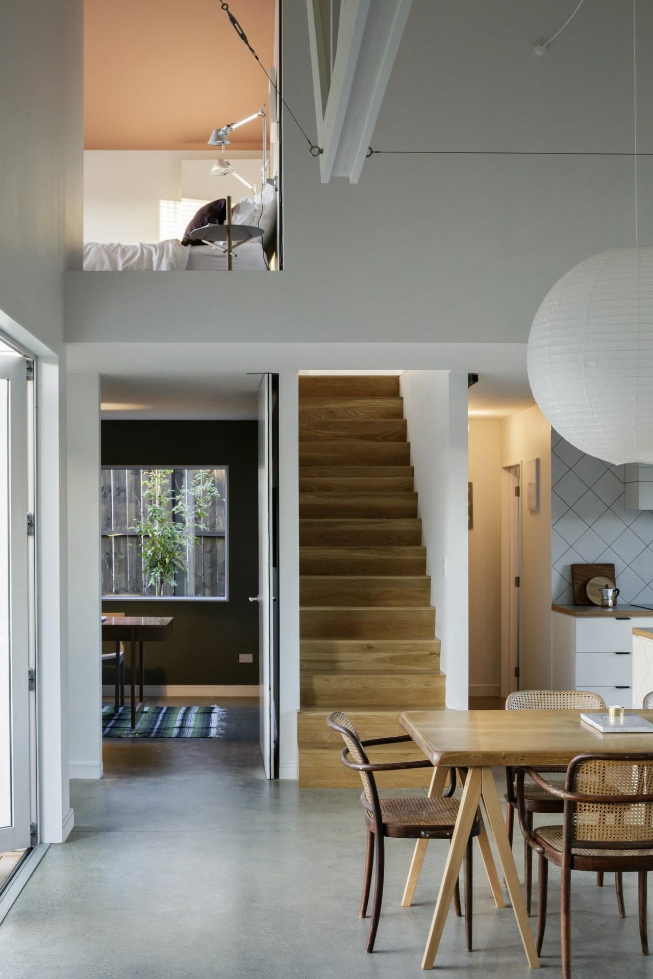 Resene Friar Grey and Resene Raptor feature on architecture, ceiling, daylighting, floor, flooring, hardwood, house, interior design, laminate flooring, wood, wood flooring, gray