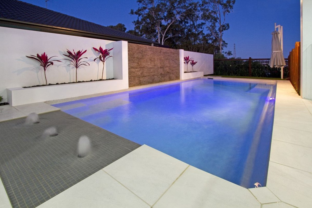 Narellan Pools Waikato can create an in-ground fibreglass architecture, area, estate, floor, flooring, home, house, leisure, leisure centre, property, real estate, swimming pool, blue, gray