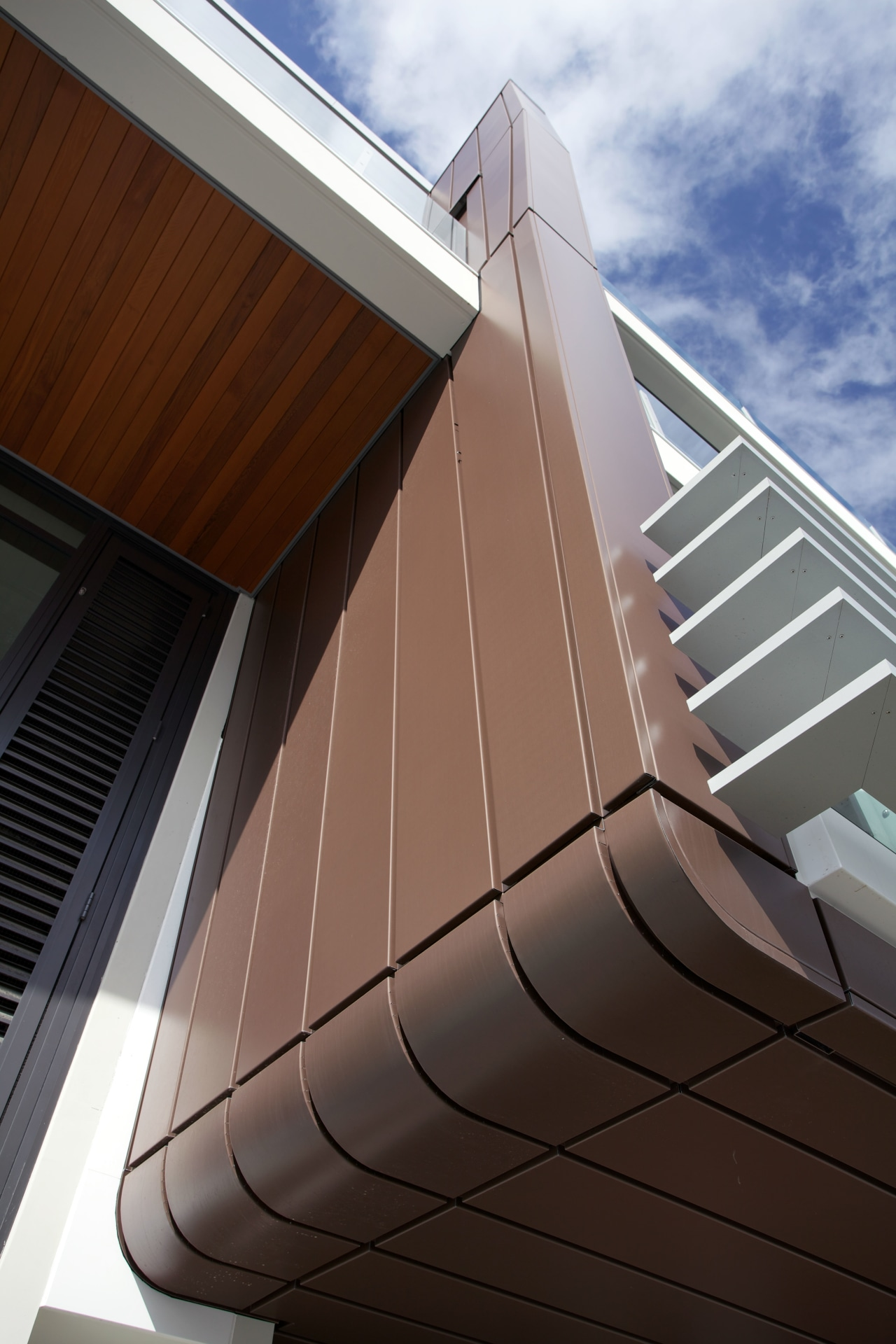 Wakefield Metals, the distributor of VM Zinc cladding angle, architecture, building, daylighting, daytime, facade, house, line, roof, siding, sky, structure, black, gray, brown