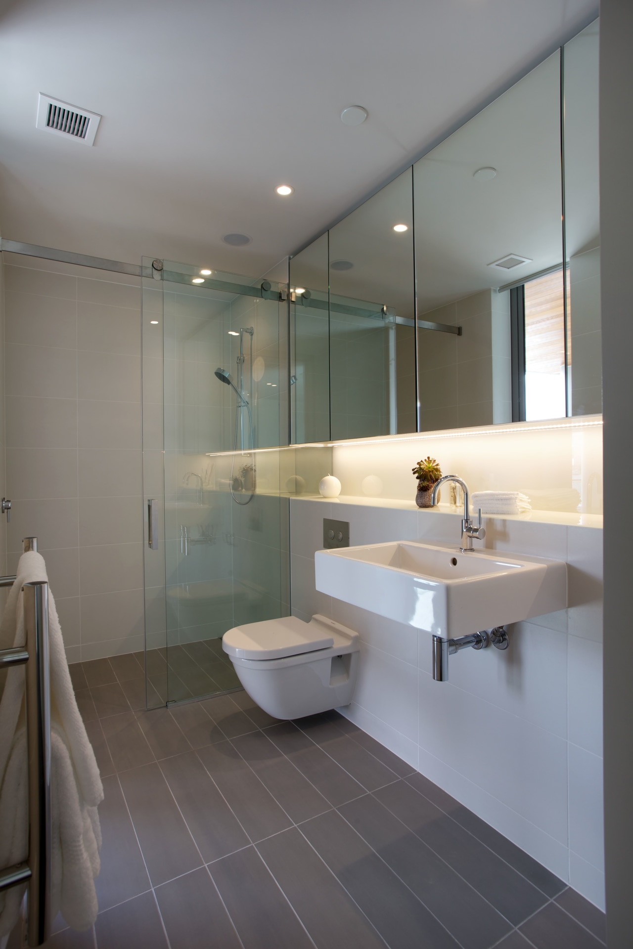 Contemporary tile bathrooms are a feature of the architecture, bathroom, floor, home, interior design, plumbing fixture, product design, room, sink, tap, tile, gray