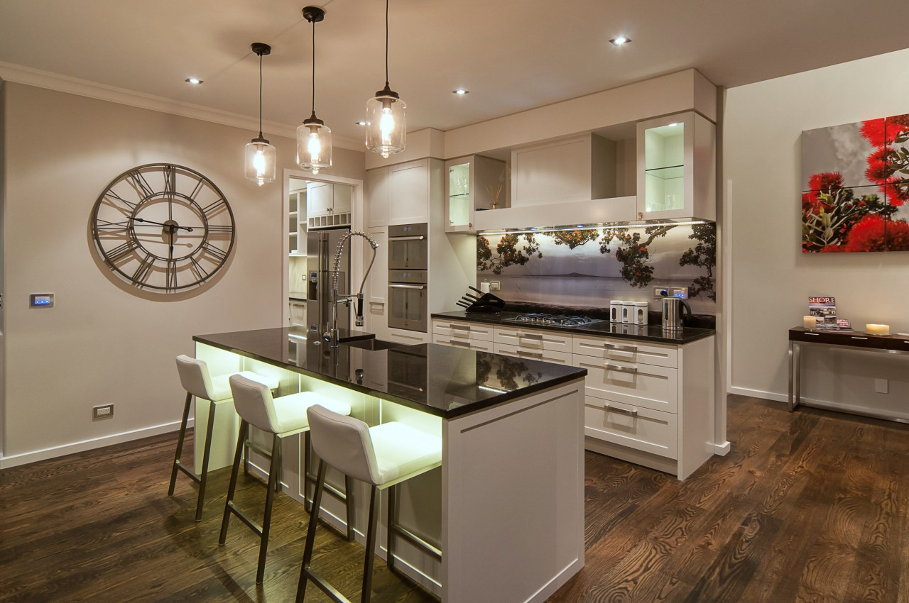 Eco-friendly and energy-saving features provide a warm, healthy countertop, interior design, kitchen, real estate, room, brown, gray