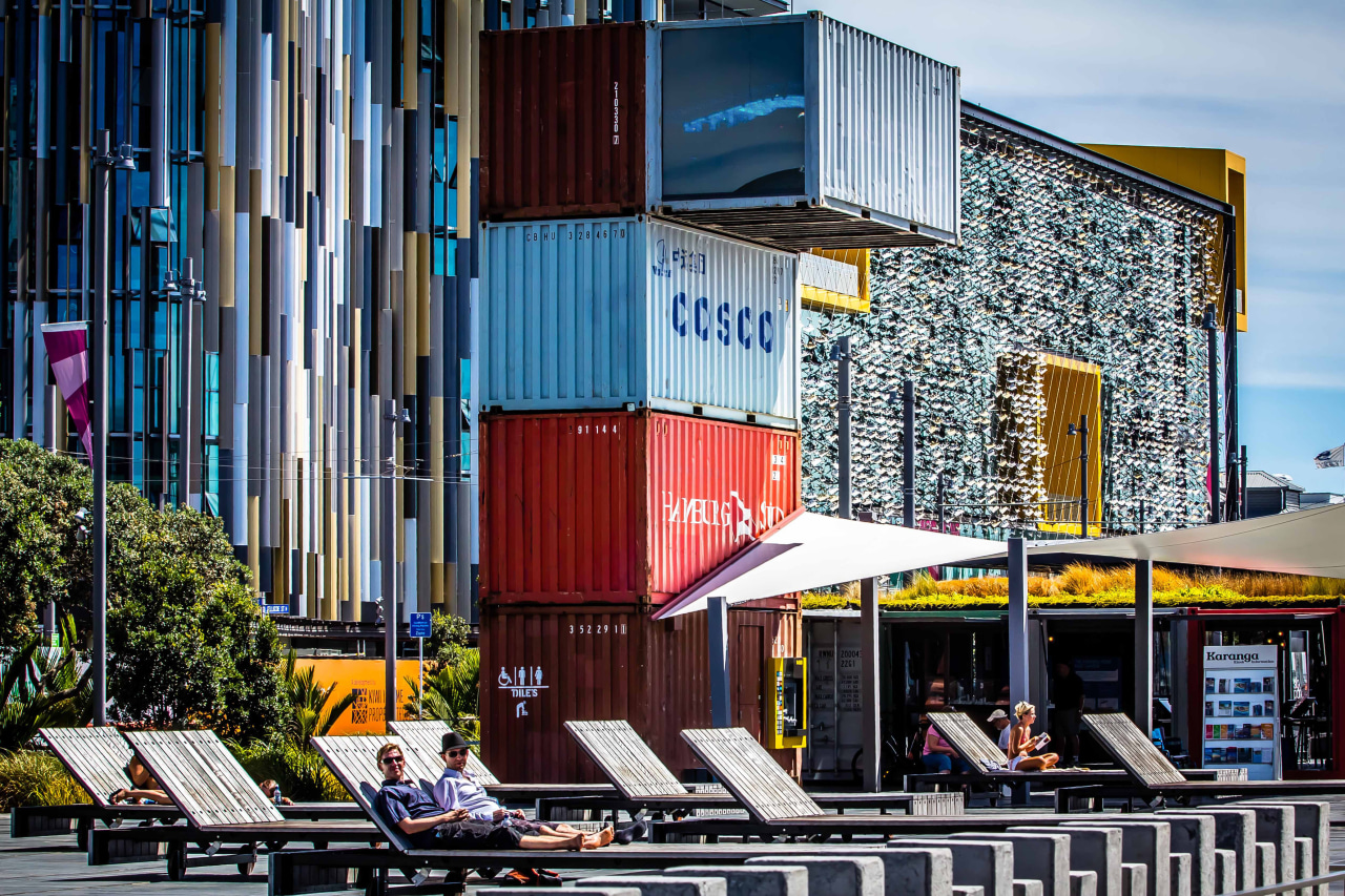Wynyard Quarter, developed by Auckland Waterfront, has won architecture, building, city, facade, mixed use, neighbourhood, town, urban area, black